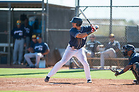 San Diego Padres left fielder Mason House (58) at bat during an Instructional League game against the Milwaukee Brewers at Peoria Sports Complex on September 21, 2018 in Peoria, Arizona. (Zachary Lucy/Four Seam Images)