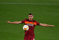 Football: Uefa Europa League - semifinal 2nd leg AS Roma vs Manchester United Olympic Stadium. Rome, Italy, May 6, 2021.<br /> Roma's Edin Dzeko in action during the Europa League football match between Roma and Manchester United at Rome's Olympic stadium, Rome, on May 6, 2021.  <br /> UPDATE IMAGES PRESS/Isabella Bonotto