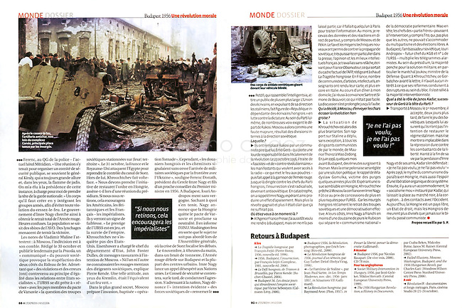 L'Express (main French news magazine).2006/10..Photos: Jeno Kiss