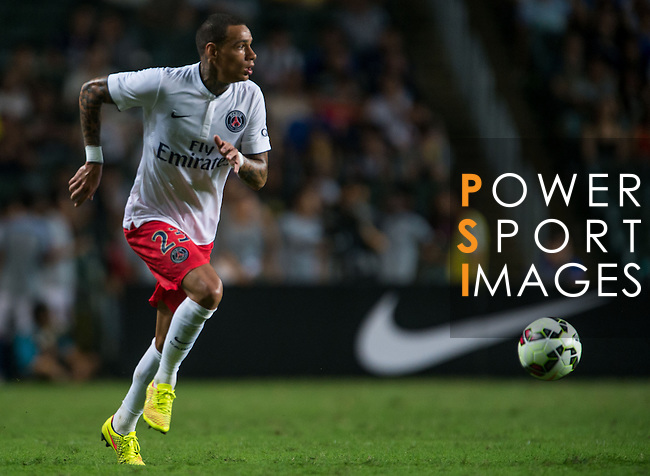 Van der Viel of Paris Saint-Germain in action during Kitchee SC vs Paris Saint-Germain during the The Meeting of Champions on July 29, 2014 at the Hong Kong stadium in Hong Kong, China.  Photo by Aitor Alcalde / Power Sport Images