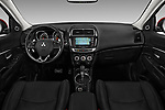 Stock photo of straight dashboard view of 2017 Mitsubishi Outlander-Sport GT 5 Door SUV Dashboard