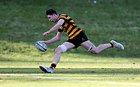 Saturday 17th February 2018 | RBAI vs Sullivan<br /> <br /> David McCann races clear to score his second try during the Ulster Schools' Cup Quarterfinal between RBAI and Sullivan at Cranmore Park, Belfast, Northern Ireland. Photo by John Dickson / DICKSONDIGITAL