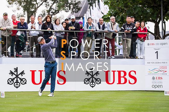 Ben Leong of Malaysia tees off during the day three of UBS Hong Kong Open 2017 at the Hong Kong Golf Club on 25 November 2017, in Hong Kong, Hong Kong. Photo by Marcio Rodrigo Machado / Power Sport Images