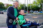 Darragh and Donie Fealy from Listowel enjoying the town park playground on Sunday.