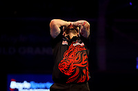 9th October 2021; Morningside Arena, Leicester, England; PDC BoyleSports Darts World Grand Prix finals ; Jonny Clayton reacts as he wins the Boylesports World Grand Prix