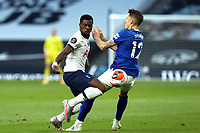 Serge Aurier of Tottenham Hotspur and Lucas Digne of Everton during Tottenham Hotspur vs Everton, Premier League Football at Tottenham Hotspur Stadium on 6th July 2020