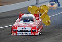 Nov. 1, 2008; Las Vegas, NV, USA: NHRA funny car driver Mike Neff during qualifying for the Las Vegas Nationals at The Strip in Las Vegas. Mandatory Credit: Mark J. Rebilas-