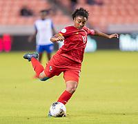 HOUSTON, TX - FEBRUARY 3: Marta Cox #11 of Panama crosses the ball during a game between Panama and Haiti at BBVA Stadium on February 3, 2020 in Houston, Texas.