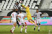Rio de Janeiro (RJ), 13/03/2021 - Bangu-Botafogo  - Paulo Henrique goleiro do Bangu,durante partida contra o Botafogo,válida pela 3ª rodada da Taça Guanabara,realizada no Estádio Nilton Santos (Engenhão), na zona norte do Rio de Janeiro,neste sábado (13).