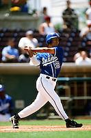 Nick Theodorou of the San Bernardino Stampede during a California League baseball game at The Ranch circa 1999 in San Bernardino,CA. (Larry Goren/Four Seam Images)