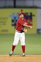 Jose Altuve of the Lancaster JetHawks during game against the Lake Elsinore Storm at Clear Channel Stadium in Lancaster,California on September 1, 2010. Photo by Larry Goren/Four Seam Images
