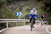 Julian Alaphilippe (FRA/Deceuninck - QuickStep) training up the Coll de Rates during the january 2020 Team Deceuninck-QuickStep training camp in Calpe, Spain<br />  <br /> ©kramon
