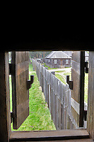 Open window shutter at Fort Ross State historic Park. California