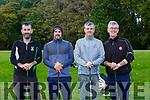 Eamon O'Donoghue, Steve O'Neill, John and PAtrick O'Donoghue enjoying playing in the Kerry GAA golf classic in O'Mahony's Point on Friday