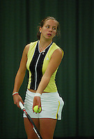 10-3-06, Netherlands, tennis, Rotterdam, National indoor junior tennis championchips, Nicolette van Uitert