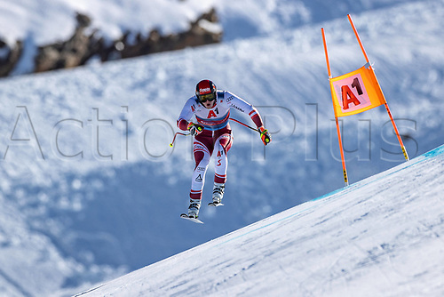11th November 2020; Obergurgl, Austria; Stefan Babinsky of Austria during a free downhill training for the mens OeSV team in Obergurgl, Austria