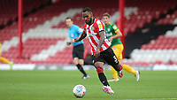 Rico Henry of Brentford in action during Brentford vs Preston North End, Sky Bet EFL Championship Football at Griffin Park on 15th July 2020