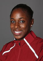 STANFORD, CA - OCTOBER 20:  Carissa Levingston of the Stanford Cardinal track and field team during picture day on October 20, 2009 in Stanford, California.