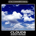 Clouds RF-CD.  100 JPEG images of beautiful clouds for use royalty-free.