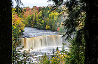 Autumn color at Tahquamenon Falls. Paradise, MI