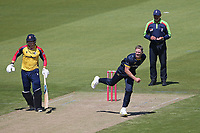 Timm van der Gugten in bowling action for Glamorgan during Glamorgan vs Essex Eagles, Vitality Blast T20 Cricket at the Sophia Gardens Cardiff on 13th June 2021