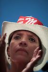 7 July 2009 - Tegucigalpa, Honduras  Xiomara Castro, Manuel Zelaya's wife and supporters of ousted Honduran President Manuel Zelaya during a march in Tegucigalpa, capital of Honduras. Photo credit: Benedicte Desrus