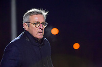 Head Coach Leo Van Der Elst of Club Brugge pictured during a female soccer game between  Racing Genk Ladies and Club Brugge YLA on the 10 th matchday of the 2020 - 2021 season of Belgian Scooore Womens Super League , friday 18 th of December 2020  in Genk , Belgium . PHOTO SPORTPIX.BE | SPP | STIJN AUDOOREN