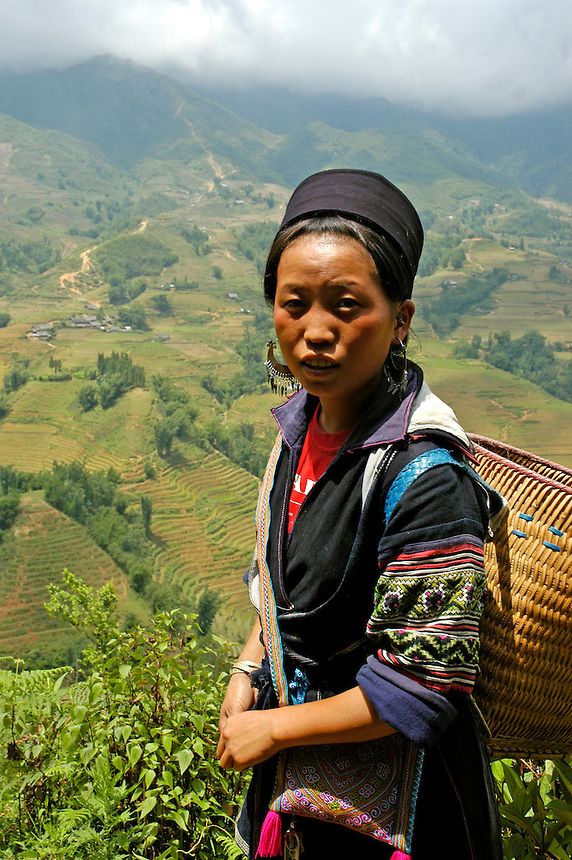 Hmong woman in the mountains of Sapa Vietnam