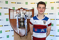 SCHOOLS CUP DRAW 2016 | Monday 16th November 2015<br /> <br /> Dalriada captain Angus Johnston - Ulster Schools Cup draw at Kingspan Stadium, Ravenhill Park, Belfast, Northern Ireland.<br /> <br /> Photo credit: John Dickson / DICKSONDIGITAL