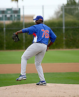 Jose Ceda / Chicago Cubs spring training 2008..Photo by:  Bill Mitchell/Four Seam Images