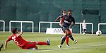 11.01.2020 Rangers v Lokomotiv Tashkent, Sevens Stadium, Dubai:<br /> Jermain Defoe scores the opening goal for Rangers