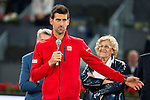 Serbian Novak Djokovic during  TPA Finals Mutua Madrid Open Tennis 2016 in Madrid, May 08, 2016. (ALTERPHOTOS/BorjaB.Hojas)