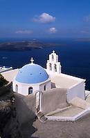 Kirche Agios Gerasimos in Firostefani, Insel Santorin (Santorini), Griechenland, Europa