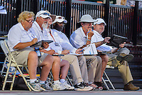 NCAA officials during West Preliminary Track & Field Championships at John McDonnell Field in Fayetteville, AR, on May 31, 2014.