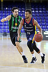 LLIGA NACIONAL CATALANA ACB 2020 AON.<br /> Morabanc Andorra vs Club Joventut Badalona: 77-75.<br /> Ferran Bassas vs Clevin Hannah.