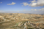 Judea, Herodion, a view north from the Herodion, built by Herod in the Judean desert