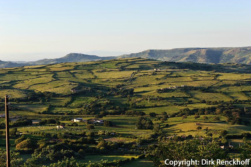 Landschaft Anglona, zwischen Nulvi und Martis,  Provinz Sassari, Nord - Sardinien, Italien