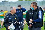 Kerry Manager Peter Keane and Kerry Selector Maurice Fitzgerald after the Allianz Football League Division 1 South Round 1 match between Kerry and Galway at Austin Stack Park in Tralee.