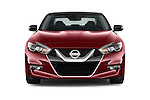 Car photography straight front view of a 2018 Nissan Maxima Platinum 4 Door Sedan Front View