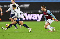 Matty Cash of Aston Villa and Jarrod Bowen of West Ham United  during West Ham United vs Aston Villa, Premier League Football at The London Stadium on 30th November 2020
