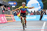 Jonathan Caicedo (ECU) EF Pro Cycling wins solo on the slopes of Mount Etna during Stage 3 of the 103rd edition of the Giro d'Italia 2020 running 150km from Enna to Etna (Linguaglossa-Piano Provenzana), Sicily, Italy. 5th October 2020.  <br /> Picture: LaPresse/Gian Mattia D'Alberto | Cyclefile<br /> <br /> All photos usage must carry mandatory copyright credit (© Cyclefile | LaPresse/Gian Mattia D'Alberto)