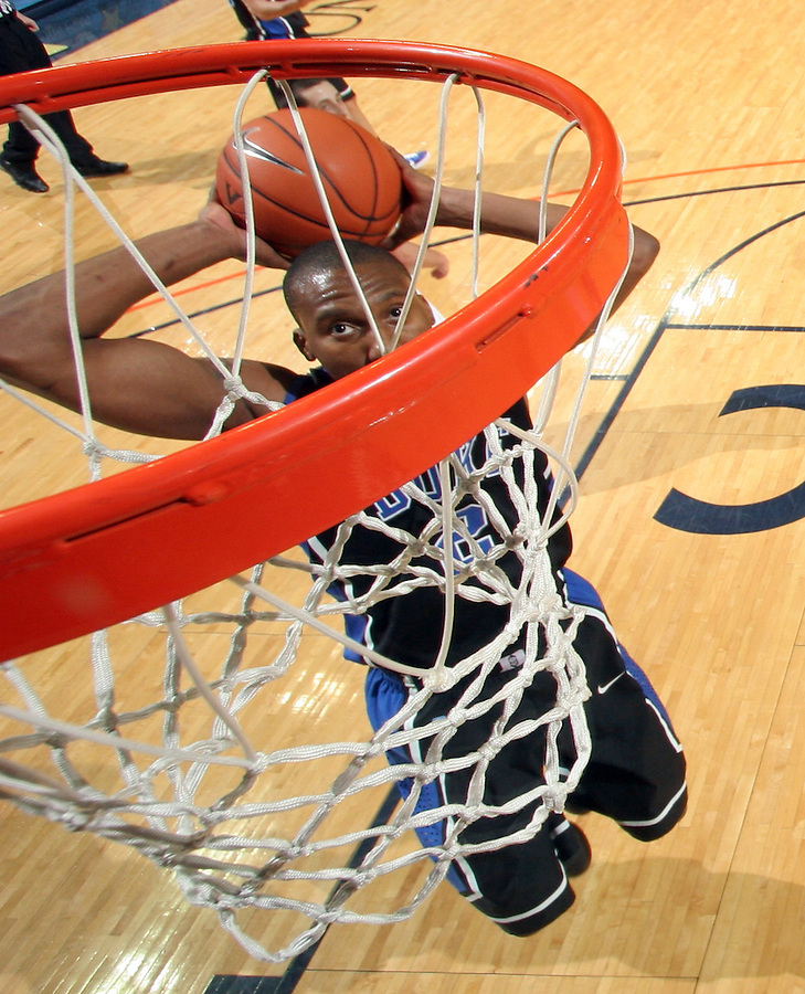 Feb. 16, 2011; Charlottesville, VA, USA; Duke Blue Devils guard Nolan Smith (2) shoots the ball during the second half of the game against the Virginia Cavaliers at the John Paul Jones Arena. The Duke Blue Devils won 56-41. Credit Image: © Andrew Shurtleff