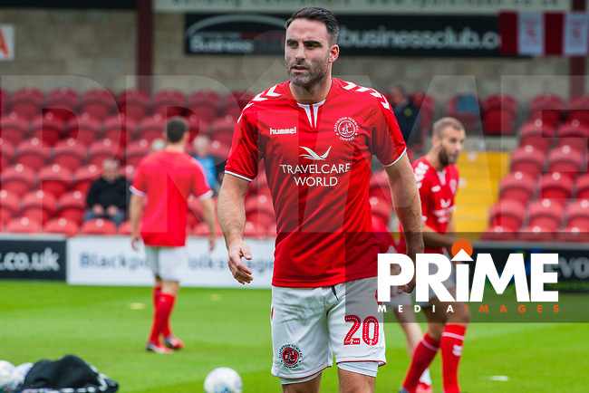 Fleetwood Town's defender Craig Morgan (20) during the Sky Bet League 1 match between Fleetwood Town and Bradford City at Highbury Stadium, Fleetwood, England on 1 September 2018. Photo by Stephen Buckley / PRiME Media Images.