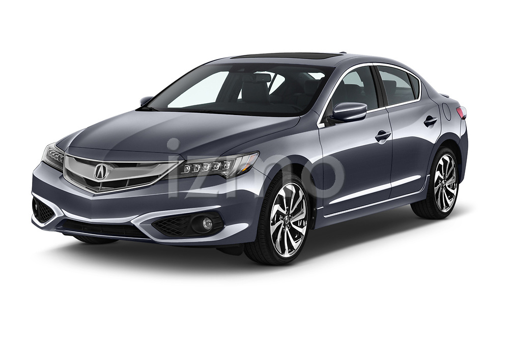 2017 Acura ilx Tech Plus and A Spec Package 4 Door Sedan angular front stock photos of front three quarter view