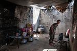 20/07/14  Iraq -- Daquq, Iraq -- A peshmerga in the chicken of the base in Albu Muhamad village of  Daquq.
