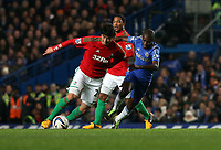 Wednesday 09 January 2013<br /> Pictured L-R: Ki Sung Yueng of Swansea against Ramires of Chelsea <br /> Re: Capital One Cup semifinal, Chelsea FC v Swansea City FC at the Stamford Bridge Stadium, London.