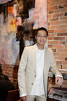 Montreal (qc) Canada , May 28, 2007 -<br /> <br /> Duy Phuc Nguyen, painter present his exhibit KIMONO in the Atrium of Hotel Nelligan in Old-Montreal<br /> <br /> <br /> Photo by Pierre Roussel / Images Distribution