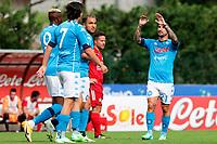 Viktor Osimhen celebrates with tem mates after a goal <br /> Dimaro 18/07/2021 <br /> Football 2021/2022 preseason friendly match between SSC Napoli and Bassa Anaunia <br /> Photo Image Sport / Insidefoto