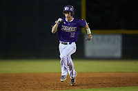 Daniel Walsh (19) of the Western Carolina Catamounts hustles towards third base against the St. John's Red Storm at Childress Field on March 12, 2021 in Cullowhee, North Carolina. (Brian Westerholt/Four Seam Images)