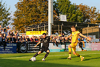 9th October 2021;  VBS Community Stadium, Sutton, London; EFL League 2 football, Sutton United versus Port Vale; David Worrall (7) of Port Vale takes a long shot at goal